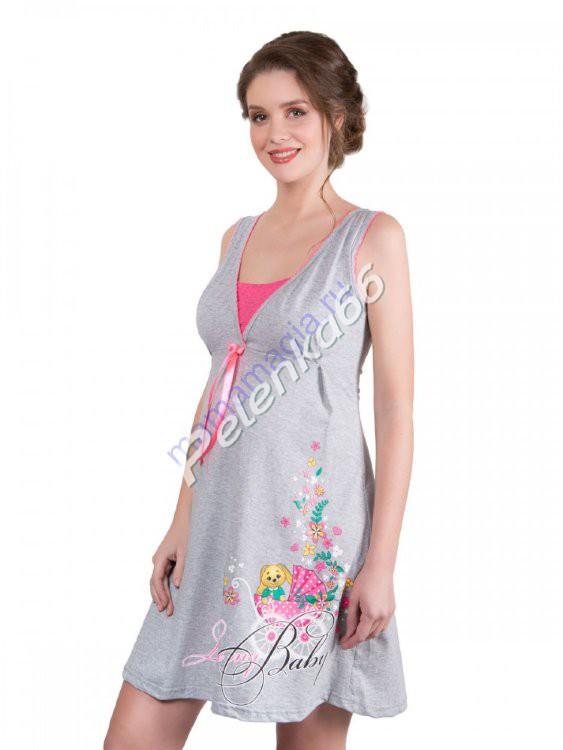 20a1c6b6fa18 Ночная сорочка для беременных и кормящих
